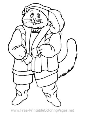 Kitty Explorer Coloring Page