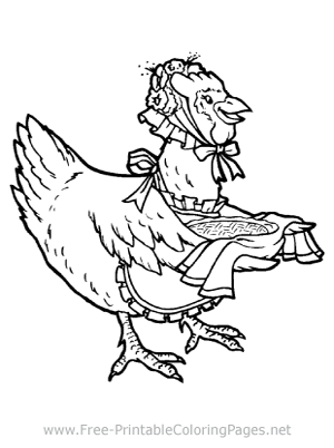 Momma Hen Coloring Page