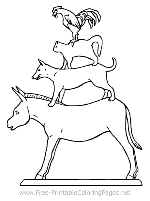 Animal Pyramid Coloring Page