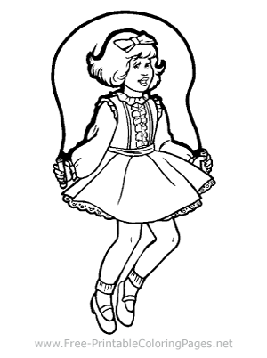 Summer vacation coloring page! Jumping rope, jump-roping are great ... | 402x300